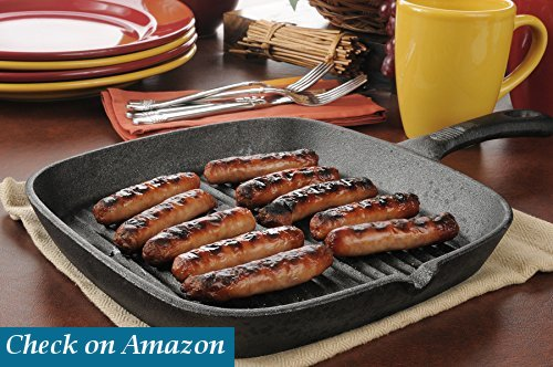 Utopia Kitchen Cast-Iron Grill Pan