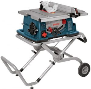 Bosch 10-Inch Worksite Table Saw 4100-09 with Gravity-Rise Wheeled Stand, Portable Table Saw