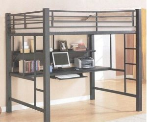Coaster Fine Furniture 460023 Loft Bed with Workstation