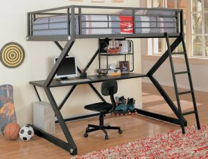 Coaster Loft Bed Full Size Work Station, loft bed with desk, loft beds