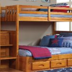 Discovery World Furniture Twin Over Full Staircase Bunk Bed with 3 Drawers