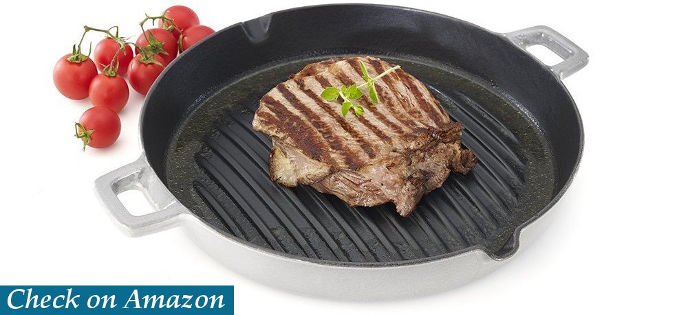 Essenso Convex Curved Base Cast Iron Grill Pan