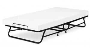 LUCID Rollaway Guest Bed with Memory Foam Mattress Fold and Hide Away for Easy Storage Rolling Cot with 4 Inch Mattress