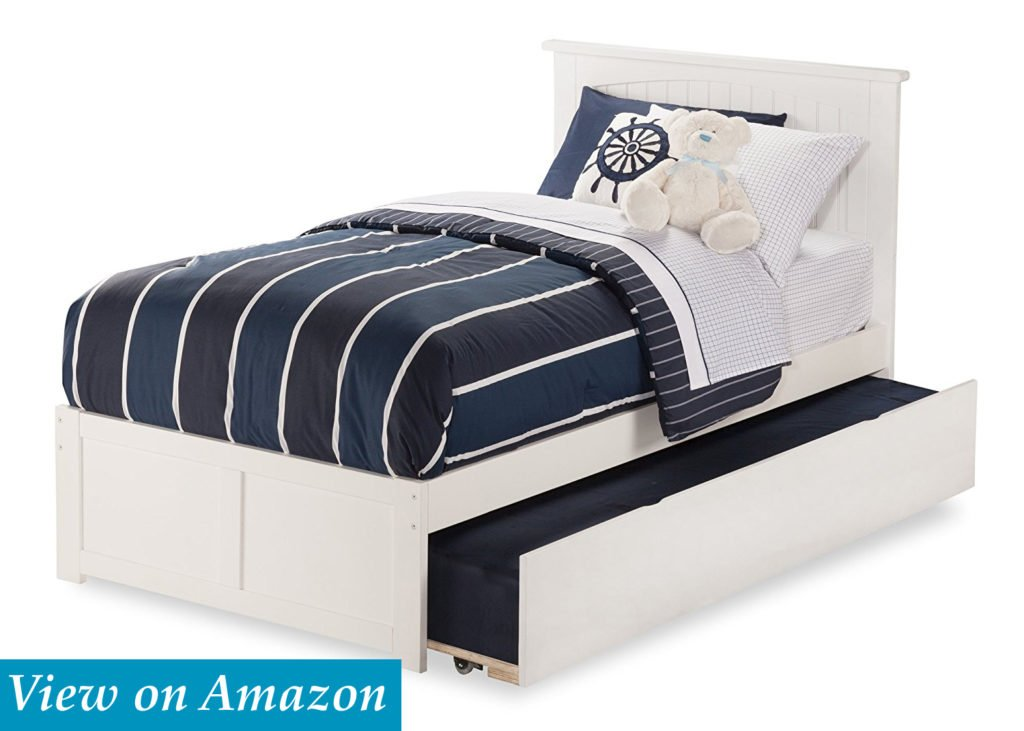 Nantucket Bed with Flat Panel Foot Board and Urban Trundle