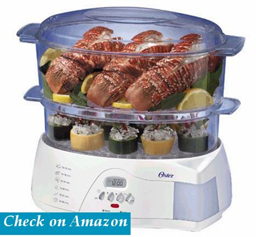 Oster 5712 Electronic 2-Tier 6.1-Quart Vegetable Steamer