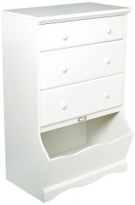 Sauder Pogo 3-Drawer Chest white dresser, white dresser